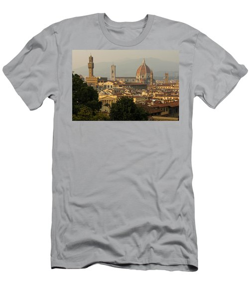 Hot Summer Afternoon In Florence Italy Men's T-Shirt (Athletic Fit)