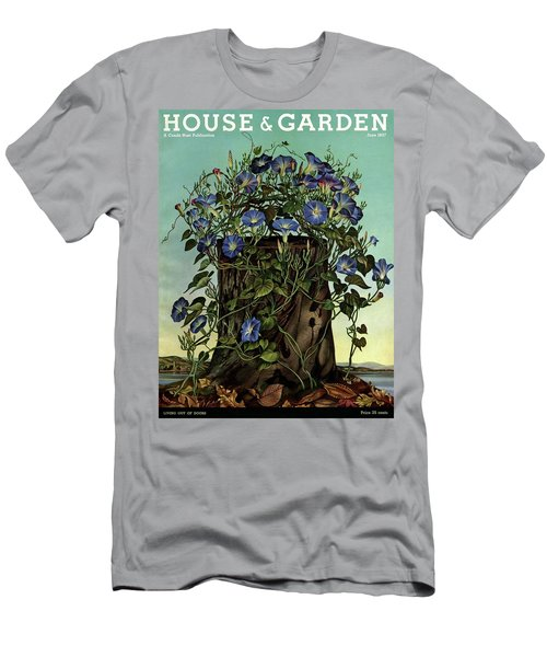 House And Garden Cover Featuring Flowers Growing Men's T-Shirt (Athletic Fit)