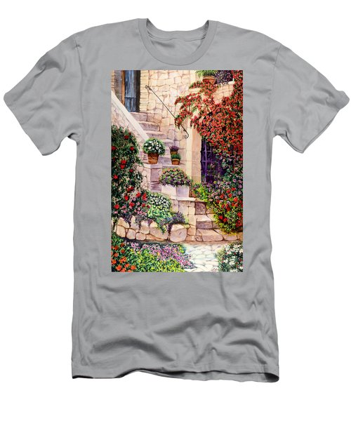Men's T-Shirt (Slim Fit) featuring the painting House In Oyster Bay by Sher Nasser