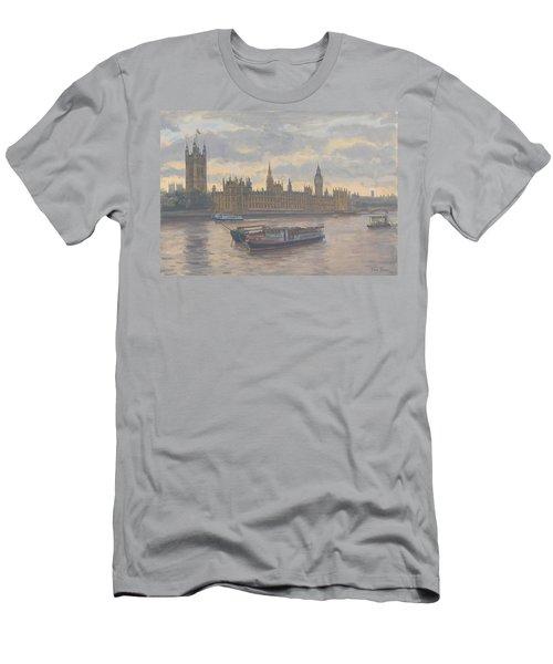 Houses Of Parliament Men's T-Shirt (Athletic Fit)