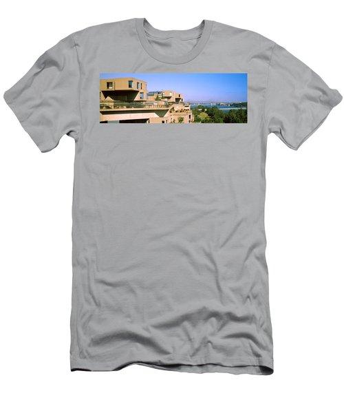 Housing Complex With A Bridge Men's T-Shirt (Athletic Fit)