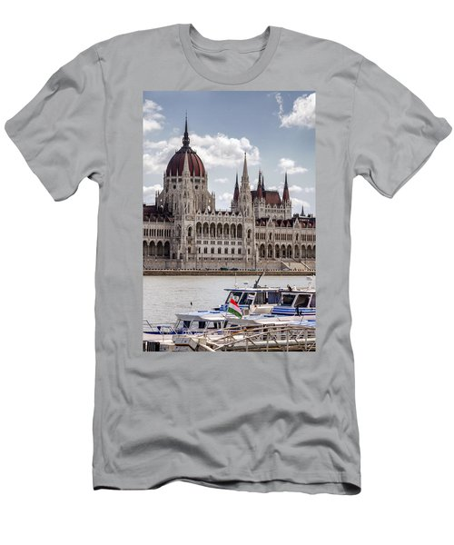 Hungarian Parliament Across The Danube Men's T-Shirt (Athletic Fit)