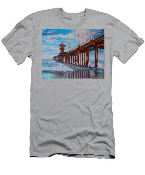 Huntington Beach Pier 2 Men's T-Shirt (Athletic Fit)