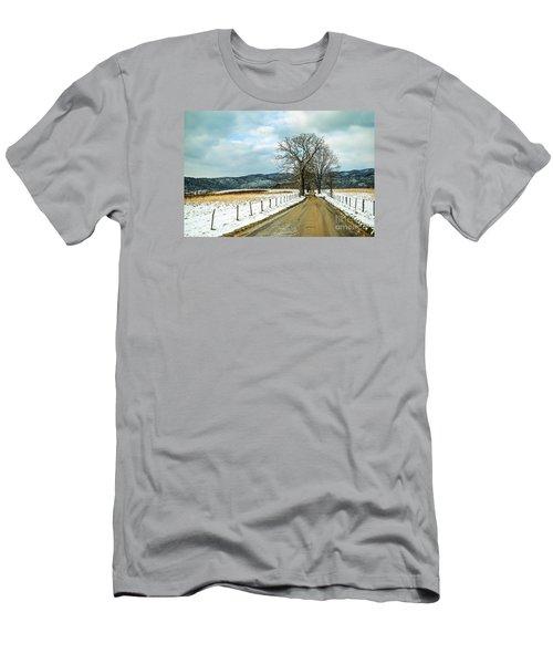 Hyatt Lane In Snow Men's T-Shirt (Slim Fit) by Debbie Green
