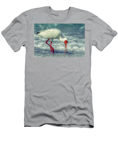Ibis Feeding Men's T-Shirt (Slim Fit) by Valerie Reeves