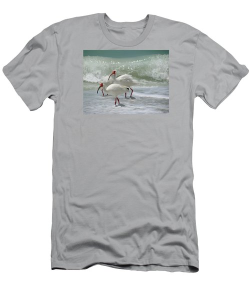 Ibis Pair Men's T-Shirt (Slim Fit) by Melinda Saminski