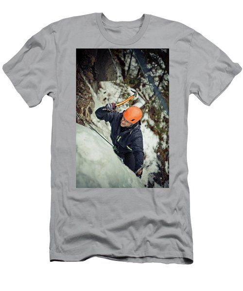 Ice Climbing Men's T-Shirt (Athletic Fit)