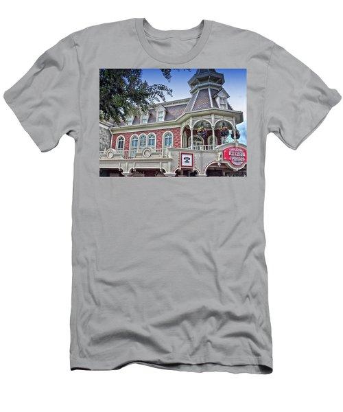 Ice Cream Parlor Main Street Walt Disney World Men's T-Shirt (Athletic Fit)