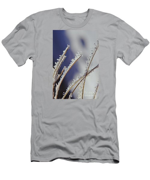 Men's T-Shirt (Slim Fit) featuring the photograph Ice Crystals On Fireweed Fairbanks  Alaska By Pat Hathaway 1969 by California Views Mr Pat Hathaway Archives
