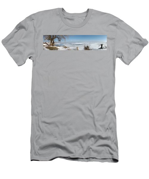 Ice Fishing Men's T-Shirt (Athletic Fit)
