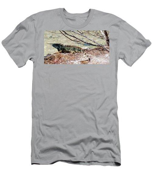 Men's T-Shirt (Slim Fit) featuring the photograph Iguana Iguana by Amar Sheow