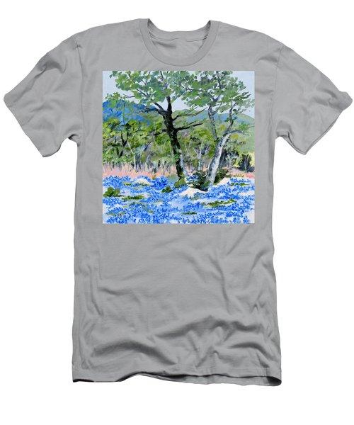 In April-texas Bluebonnets Men's T-Shirt (Athletic Fit)