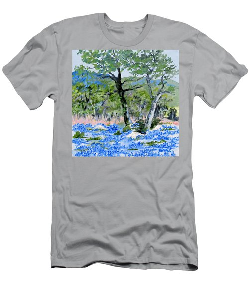 In April-texas Bluebonnets Men's T-Shirt (Athletic Fit)