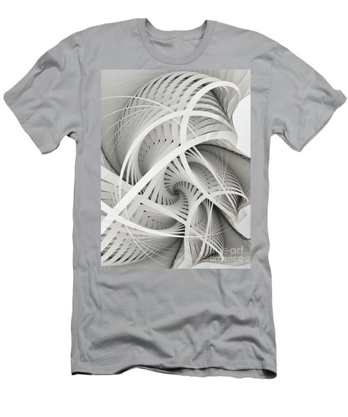 In Betweens-white Fractal Spiral Men's T-Shirt (Athletic Fit)