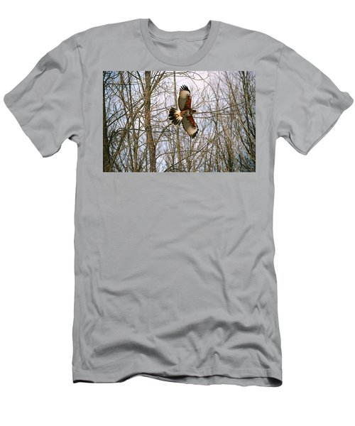 Men's T-Shirt (Slim Fit) featuring the photograph In Flight by David Porteus