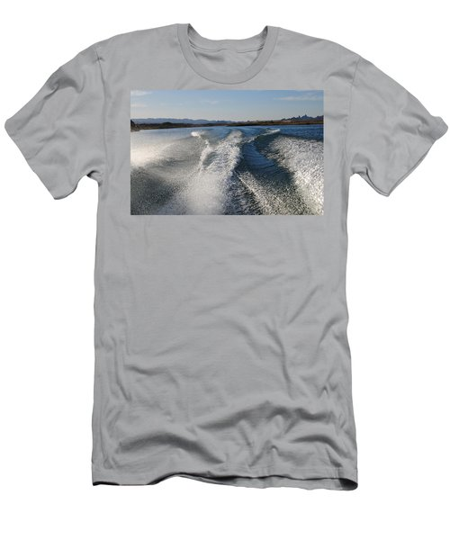 In The Wake Of Lake Havasu Az  Men's T-Shirt (Slim Fit) by Cathy Anderson