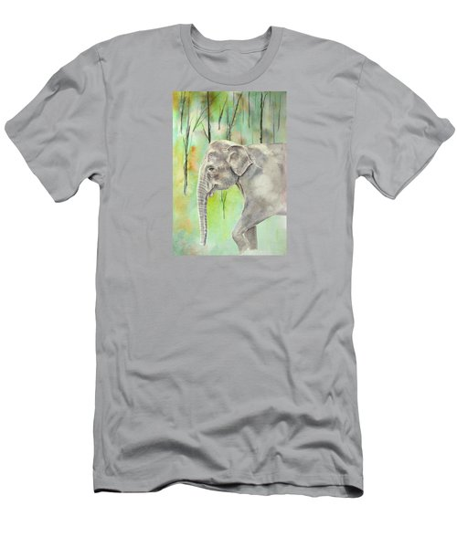 Indian Elephant Men's T-Shirt (Slim Fit) by Elizabeth Lock