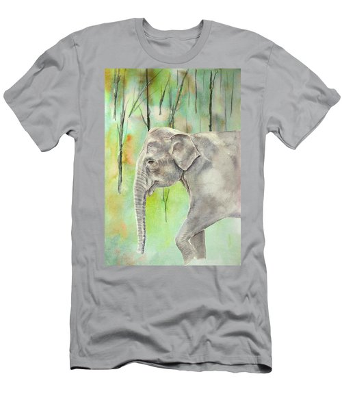 Indian Elephant Men's T-Shirt (Athletic Fit)