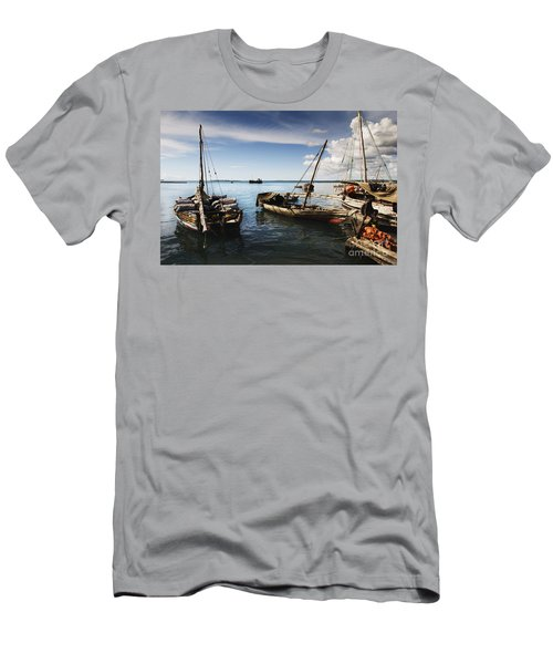 Indian Ocean Dhow At Stone Town Port Men's T-Shirt (Athletic Fit)