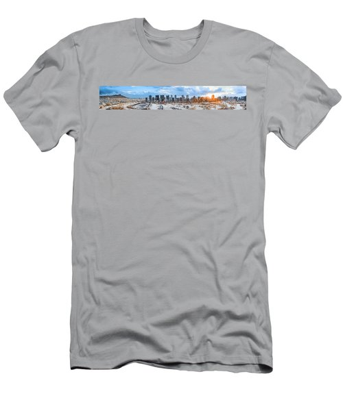 Infrared Sunset Over Honolulu Men's T-Shirt (Athletic Fit)
