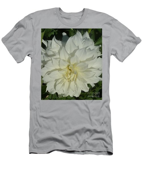 Innocent White Dahlia  Men's T-Shirt (Slim Fit) by Susan Garren