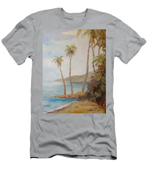 Men's T-Shirt (Slim Fit) featuring the painting Inside The Reef by Alan Lakin