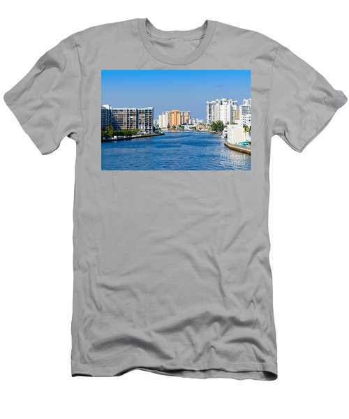 Intracoastal Waterway In Hollywood Florida Men's T-Shirt (Athletic Fit)