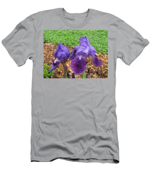 Men's T-Shirt (Slim Fit) featuring the photograph Iris After Rain by Katie Wing Vigil