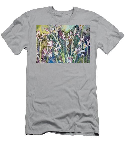 Irises And Doodles Men's T-Shirt (Athletic Fit)