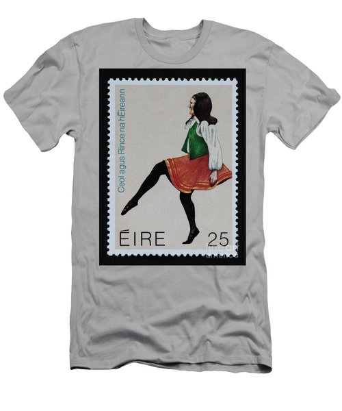 Irish Music And Dance Postage Stamp Print Men's T-Shirt (Athletic Fit)