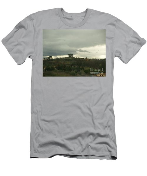 Men's T-Shirt (Slim Fit) featuring the photograph Italian Hillside by Robin Maria Pedrero
