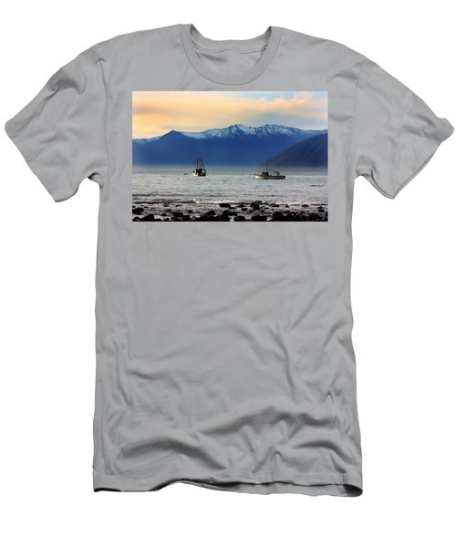 Men's T-Shirt (Slim Fit) featuring the photograph Jackson Bay South Westland New Zealand by Amanda Stadther