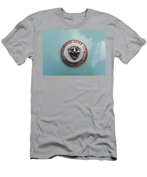Men's T-Shirt (Slim Fit) featuring the photograph Jaguar Hood Emblem by Cheryl Hoyle