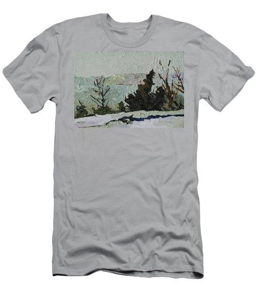 January Grays Men's T-Shirt (Slim Fit) by Phil Chadwick