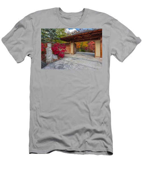 Men's T-Shirt (Slim Fit) featuring the photograph Japanese Main Gate by Sebastian Musial