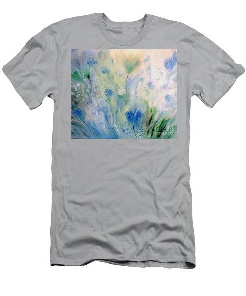 Jardin Bleu Men's T-Shirt (Slim Fit) by Julie Brugh Riffey