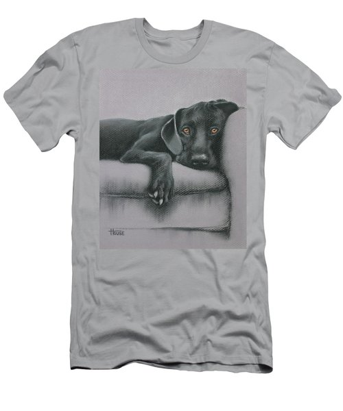 Men's T-Shirt (Slim Fit) featuring the drawing Jasper by Cynthia House