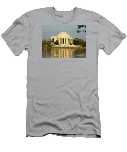 Men's T-Shirt (Slim Fit) featuring the photograph Jefferson Memorial At Sunset by Emmy Marie Vickers