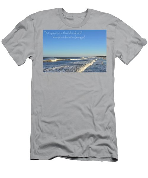 Jersey Girl Seaside Heights Quote Men's T-Shirt (Athletic Fit)