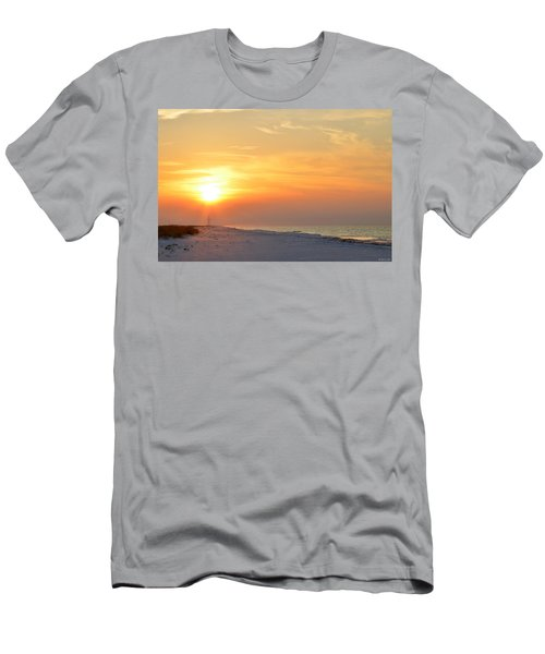 Jesus Rising On Easter Morning On Navarre Beach Men's T-Shirt (Slim Fit) by Jeff at JSJ Photography