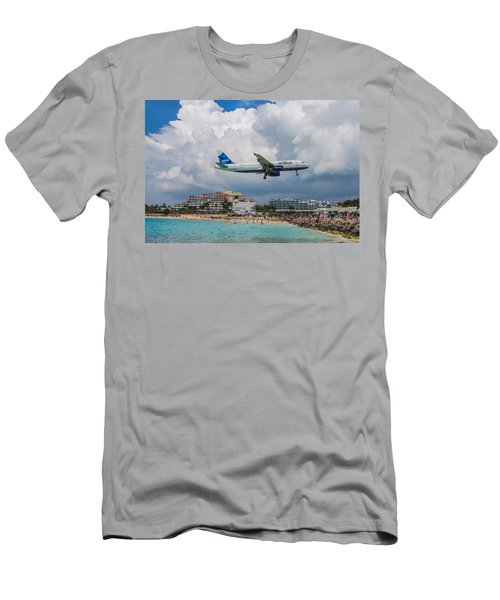 jetBlue in St. Maarten Men's T-Shirt (Athletic Fit)