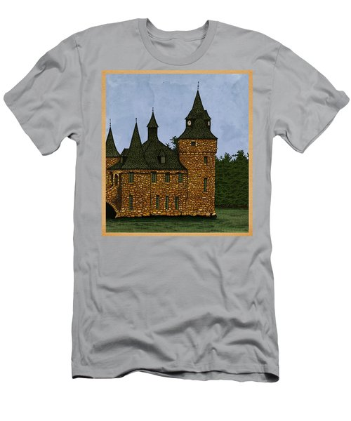 Men's T-Shirt (Slim Fit) featuring the drawing Jethro's Castle by Meg Shearer