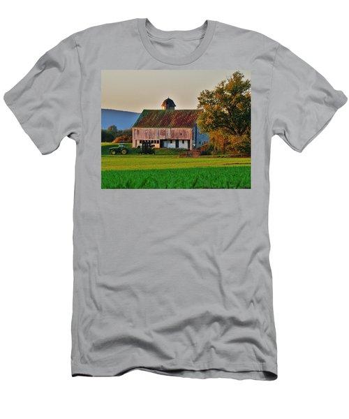 John Deere Green Men's T-Shirt (Slim Fit) by Robert Geary