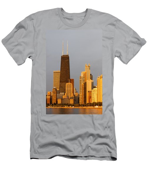 John Hancock Center Chicago Men's T-Shirt (Slim Fit) by Adam Romanowicz
