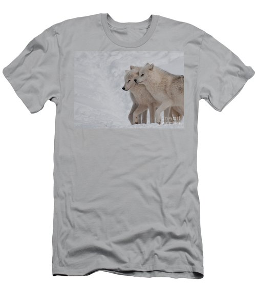 Men's T-Shirt (Slim Fit) featuring the photograph Joined At The Hip by Bianca Nadeau
