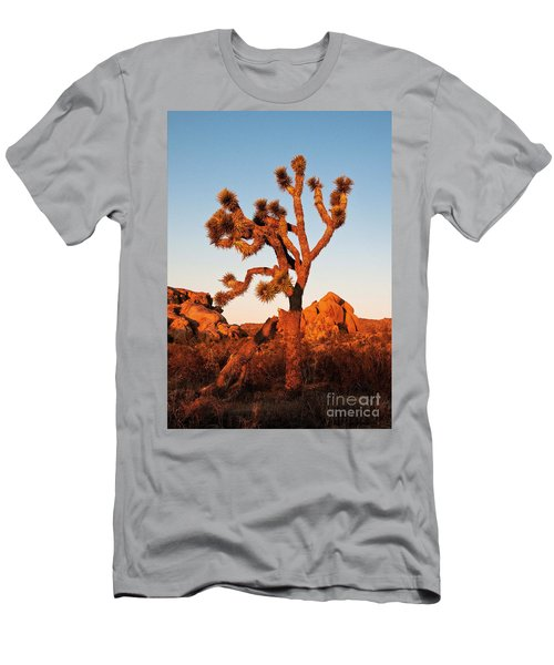 Men's T-Shirt (Athletic Fit) featuring the photograph Joshua Tree At Sunset by Mae Wertz