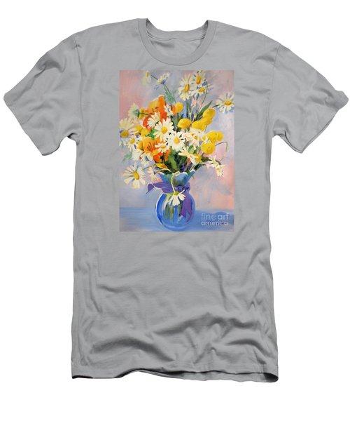 July Summer Arrangement  Men's T-Shirt (Slim Fit) by Kathy Braud