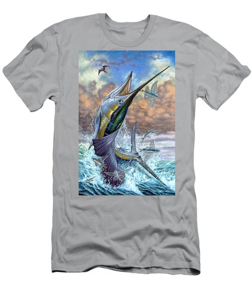 Jumping Sailfish And Flying Fishes Men's T-Shirt (Athletic Fit)