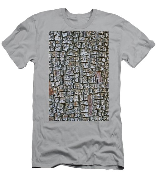 Men's T-Shirt (Slim Fit) featuring the photograph Juniper Bark- Texture Collection by Tom Janca