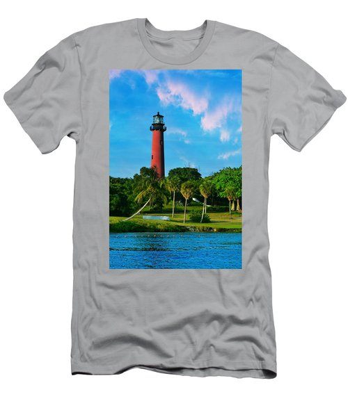 Jupiter Florida Lighthouse Men's T-Shirt (Athletic Fit)